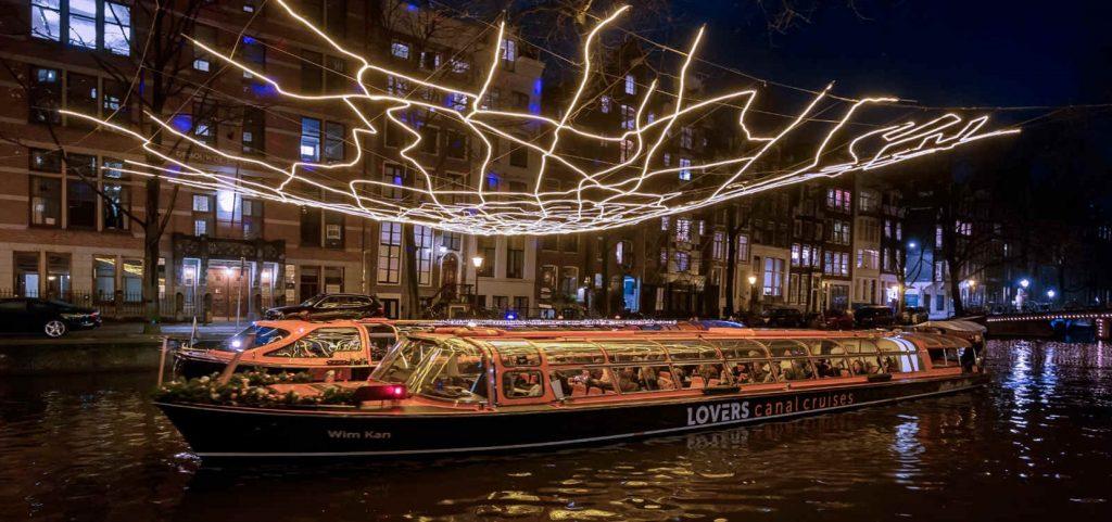 Light festival cruise Amsterdam
