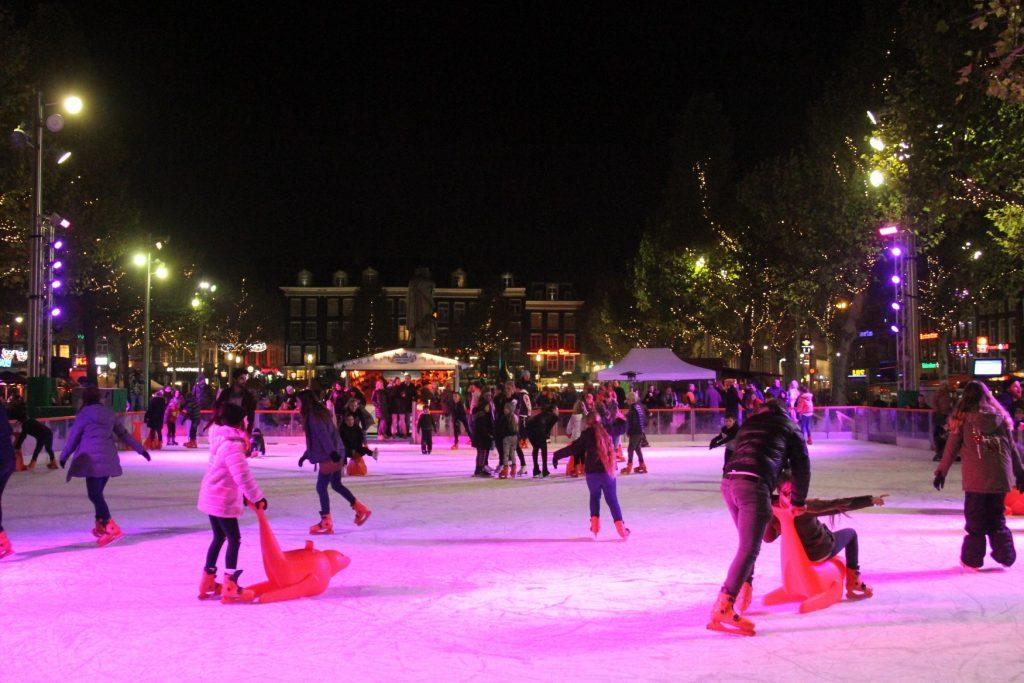 Ice rink Rembrandtplein Amsterdam